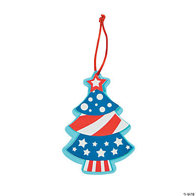 Patriotic Christmas.Patriotic Christmas Tree Ornament Craft Kit