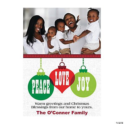 Custom Christmas Cards.Peace Love Joy Custom Photo Christmas Cards Discontinued