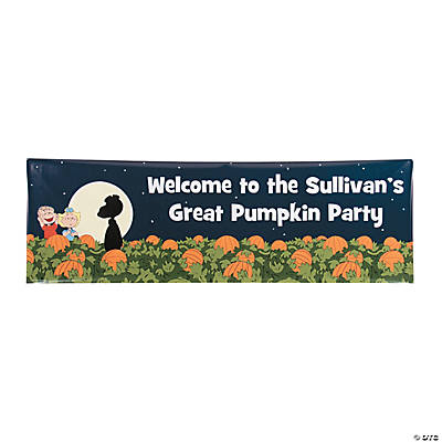 Peanuts<sup>&#174;</sup> Great Pumpkin Halloween Custom Banner - Medium Image Thumbnail