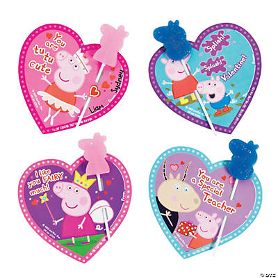 Peppa Pig Valentine S Day Exchange Lollipops With Card