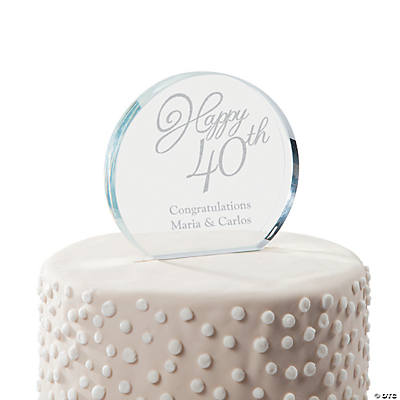 Personalized 40th Anniversary Cake Topper | Oriental Trading