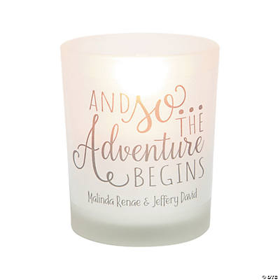 Personalized Adventure Wedding Votive Candle Holders Image Thumbnail
