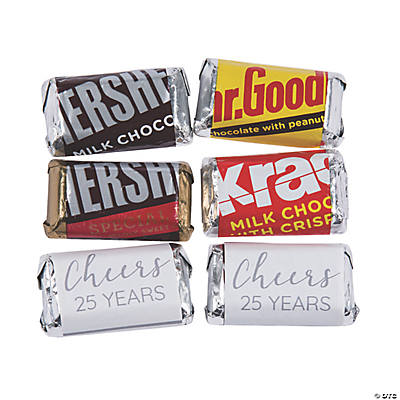 Personalized Anniversary Mini Candy Bar Sticker Labels Image Thumbnail