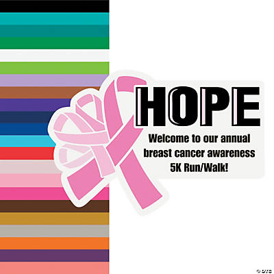 Personalized Awareness Ribbon Arch Sign