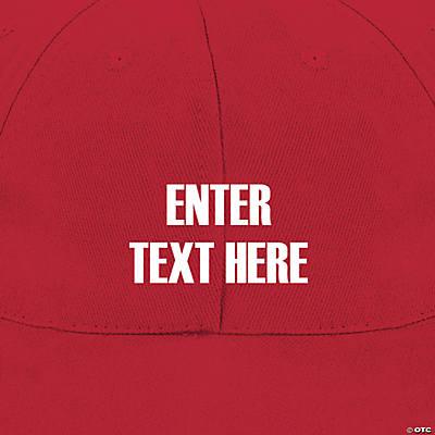 77e4b3d18f3 Personalized Baseball Caps - Red