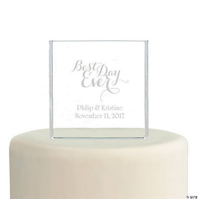 Personalized Best Day Ever Cake Topper
