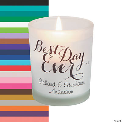 Personalized Best Day Ever Votive Candle Holders