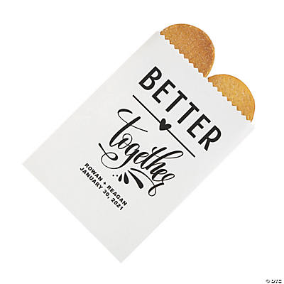 Personalized Better Together Treat Bags Image Thumbnail