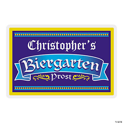 Personalized Biergarten Wooden Sign Image Thumbnail