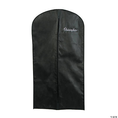 Personalized Black Garment Bag with Zipper