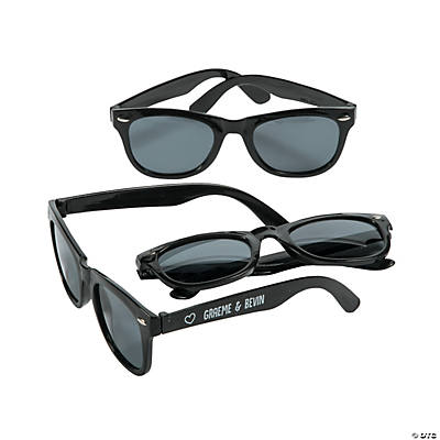 Personalized Black Nomad Sunglasses