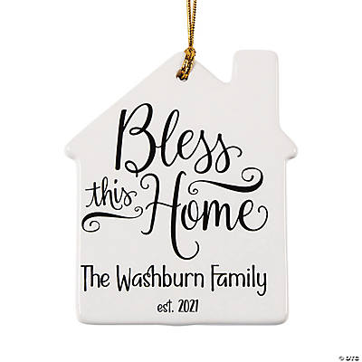 Personalized Bless This Home Ornament