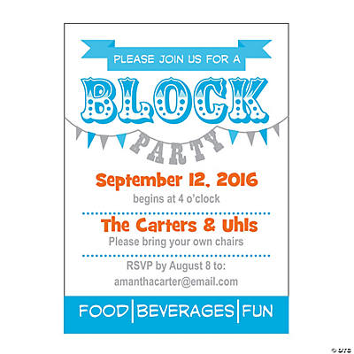 Personalized Block Party Invitations Discontinued