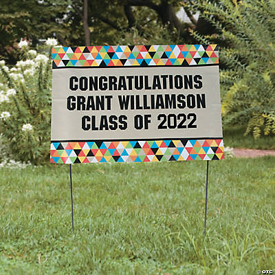 Personalized Bold Graduation Party Yard Sign Image Thumbnail