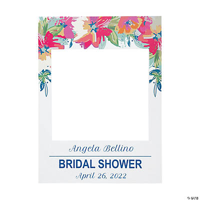 Personalized Bright Floral Frame Cutout Image Thumbnail