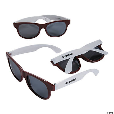 Personalized Burgundy & White Two-Tone Sunglasses Image Thumbnail