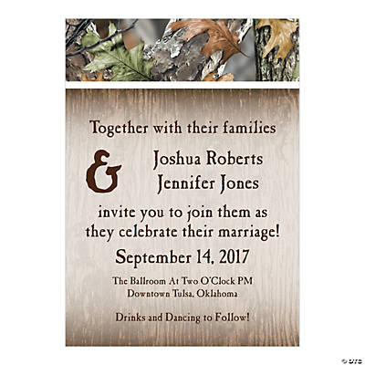 Personalized Camo Wedding Invitations