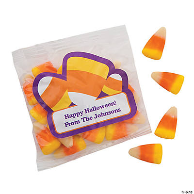 Personalized Candy Corn Treat Packs