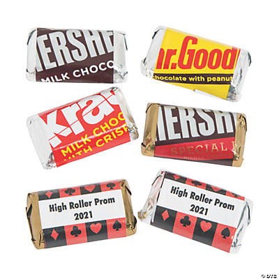 Personalized Casino Mini Candy Bar Sticker Labels