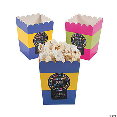 Personalized Chalk It Up Birthday Popcorn Box Stickers Audio Thumbnail