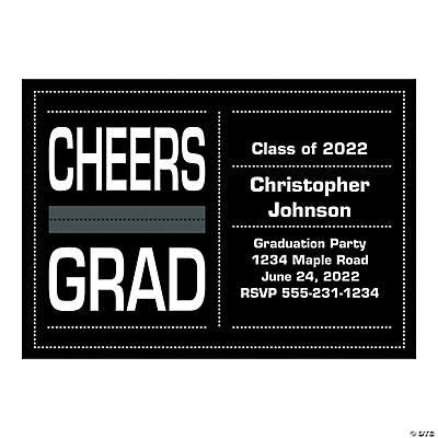 Personalized Cheers Grad Invitations Image Thumbnail