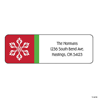 personalized christmas return address labels discontinued
