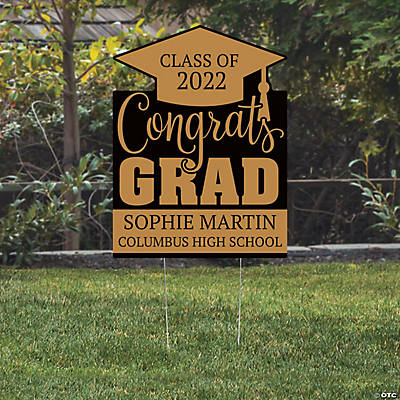 Personalized Congrats Grad Yard Sign Image Thumbnail