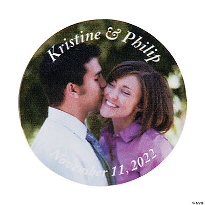 Personalized Custom Photo Wedding Favor Stickers Image Thumbnail
