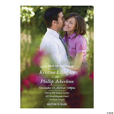 Personalized Custom Photo Wedding Invitations Image Thumbnail