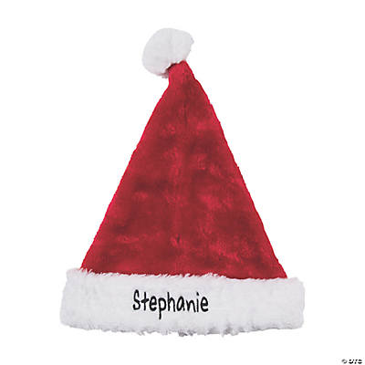Personalized Deluxe Plush Santa Hat Audio Thumbnail