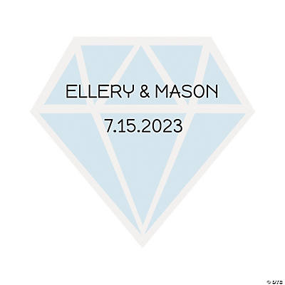 Personalized Diamond-Shaped Stickers Image Thumbnail
