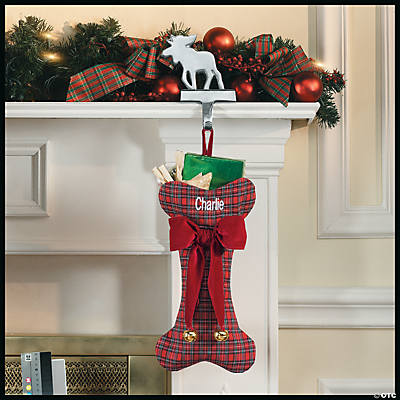 Dog Bone Christmas Stocking.Personalized Dog Christmas Stocking Discontinued