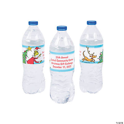 Personalized Dr. Seuss<sup>&#8482;</sup> The Grinch Water Bottle Labels Image Thumbnail