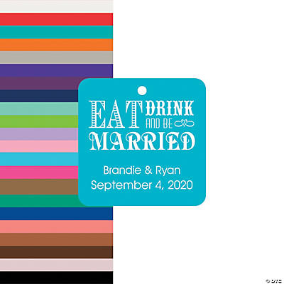 Personalized Eat Drink & Be Married Favor Tags