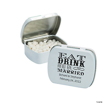 Personalized Eat, Drink & Be Married Mint Tins