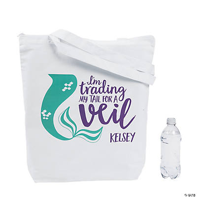 Personalized Extra Large Mermaid Bride Tote Bag