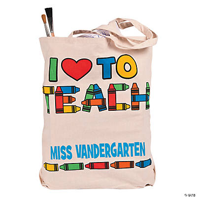 Personalized Extra Large Teacher Tote Bag