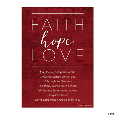 Personalized Faith Hope Love Christmas Cards Image Thumbnail
