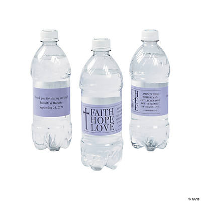 Personalized Faith, Hope, Love Water Bottle Labels Image Thumbnail