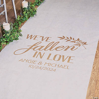 Personalized Fallen in Love Aisle Runner
