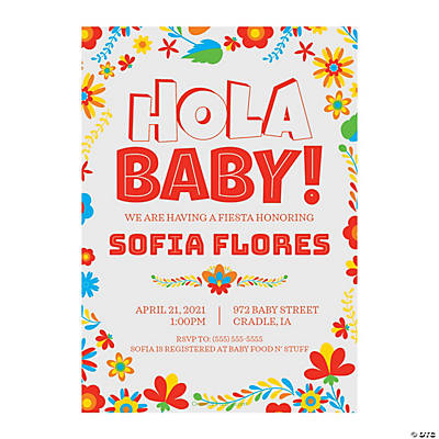 Personalized Fiesta Baby Shower Invitations Image Thumbnail