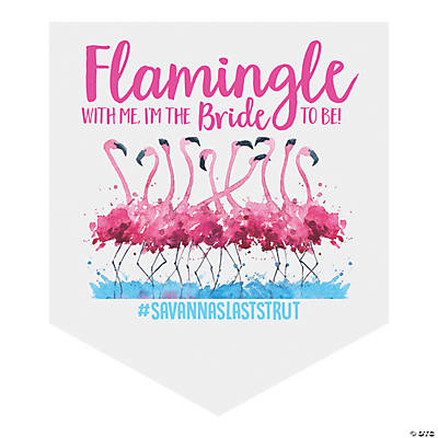 Personalized Flamingle Vinyl Pennant Banner Image Thumbnail