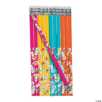 Personalized Flip Flop Pencils Image Thumbnail