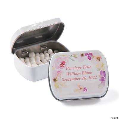 Personalized Garden Party Wedding Mint Tins