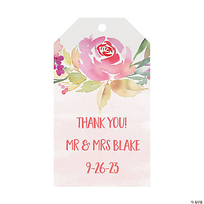 Personalized Garden Wedding Favor Tags Audio Thumbnail
