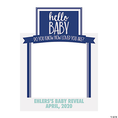 Personalized Gender Reveal Instaframe Photo Booth Cutout