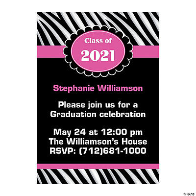 Personalized Girly Graduation Invitations Image Thumbnail