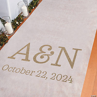 Personalized Gold Glitter Aisle Runner