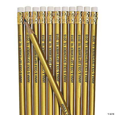 Personalized Gold Pencils Image Thumbnail