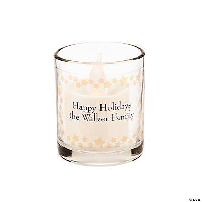 Personalized Gold Star Votive Candle Holders Image Thumbnail